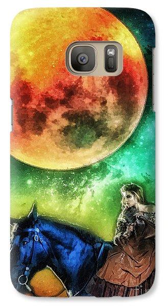 Mo Galaxy S7 Case - La Luna by Mo T