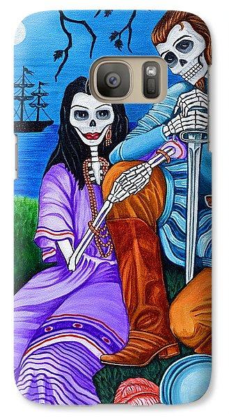 Galaxy Case featuring the painting La Malinche Y Cortes by Evangelina Portillo