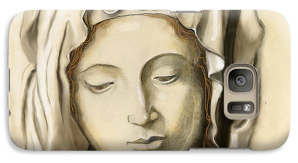 Galaxy Case featuring the painting La Pieta 2 by Terry Webb Harshman