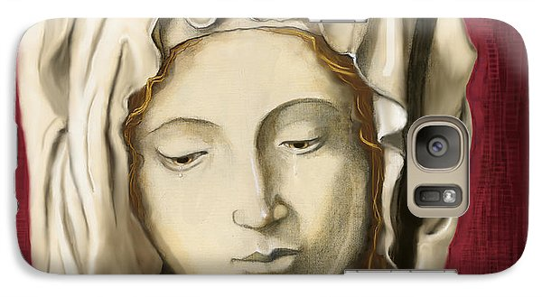 Galaxy Case featuring the painting La Pieta 3 by Terry Webb Harshman