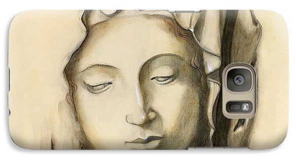 Galaxy Case featuring the painting La Pieta-progression 1 by Terry Webb Harshman