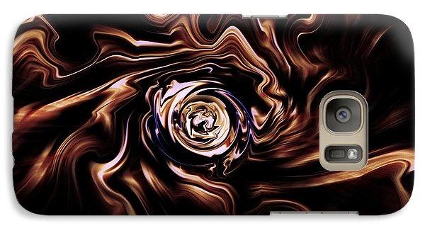 Galaxy Case featuring the digital art La Rose Blanche by Selke Boris