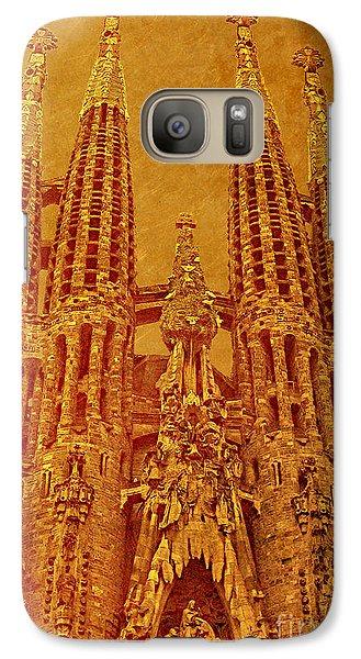 Galaxy Case featuring the photograph La Sagrada Familia by Nigel Fletcher-Jones