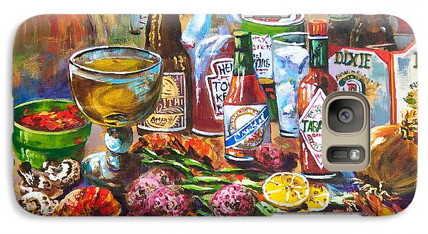 Galaxy Case featuring the painting La Table De Fruits De Mer by Dianne Parks