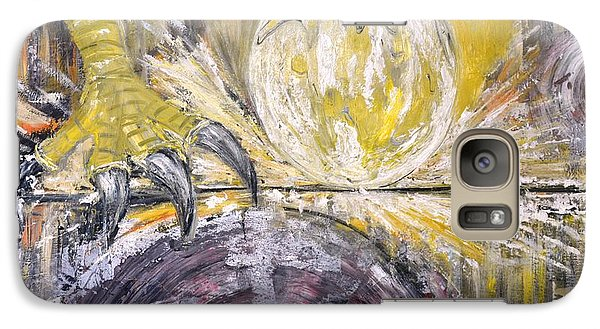 Galaxy Case featuring the painting La Tendresse Du Vautour by Evelina Popilian