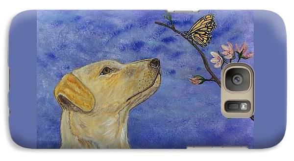 Galaxy Case featuring the painting Labrador Enchanted by Ella Kaye Dickey