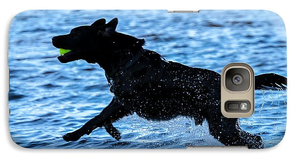 Galaxy Case featuring the photograph Labrador On The Run by Eleanor Abramson