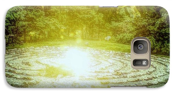 Galaxy Case featuring the photograph Labyrinth Myth And Mystical by Becky Lupe