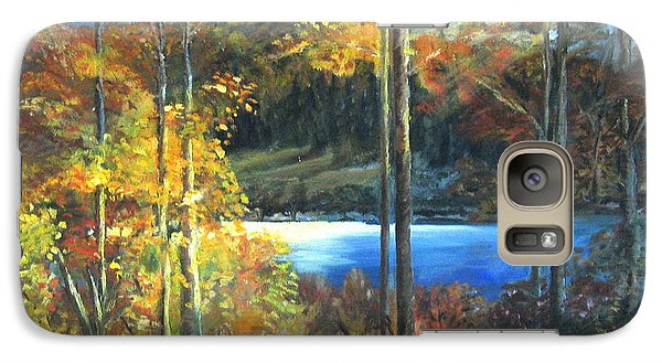 Galaxy Case featuring the painting Lac Fortune Gatineau Park Quebec by LaVonne Hand