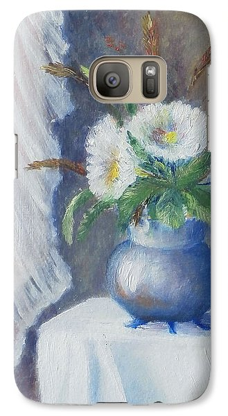 Galaxy Case featuring the painting Lace And Daisey by Luczay