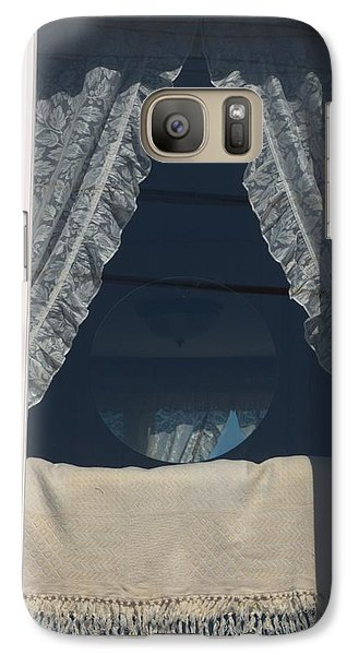 Galaxy Case featuring the photograph Lace Curtain 1 by Douglas Pike