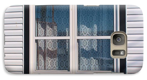 Galaxy Case featuring the photograph Lace Curtains 3 by Douglas Pike