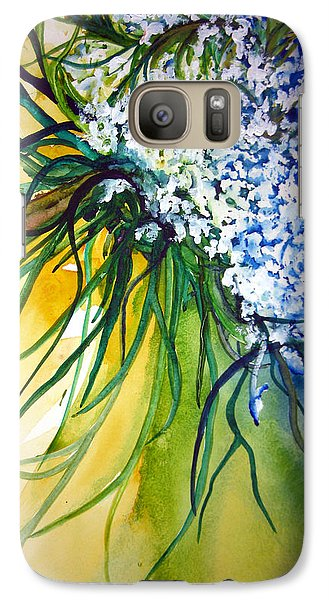 Galaxy Case featuring the painting Lace by Lil Taylor