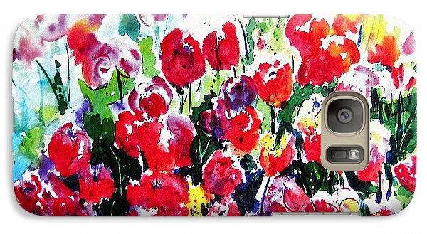 Galaxy Case featuring the painting Laconner Tulips by Marti Green