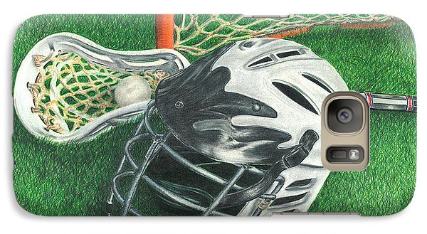 Galaxy Case featuring the drawing Lacrosse by Troy Levesque