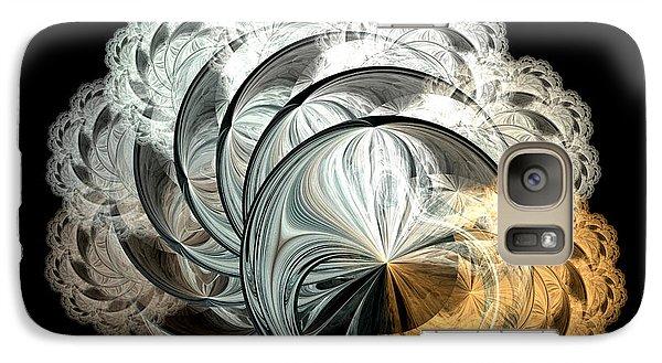 Galaxy Case featuring the digital art Lacy Fractal by Lea Wiggins