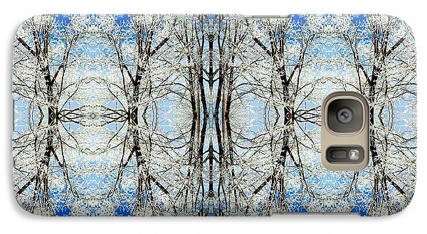 Galaxy Case featuring the photograph Lacy Winter Trees Abstract Art Photo by Marianne Dow