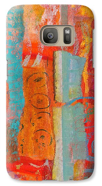 Galaxy Case featuring the mixed media Ladder To Nowhere by Catherine Redmayne