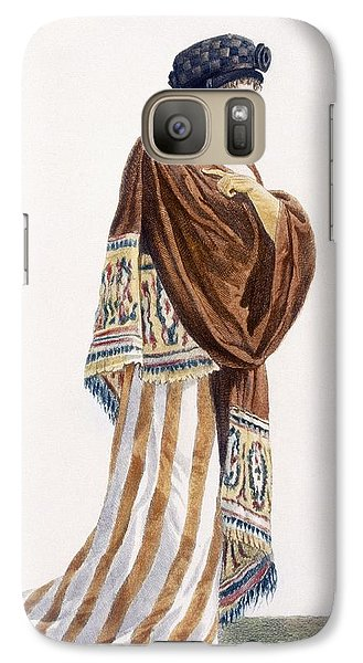 Ladies Dress With Velvet Shawl Galaxy S7 Case by Pierre de La Mesangere