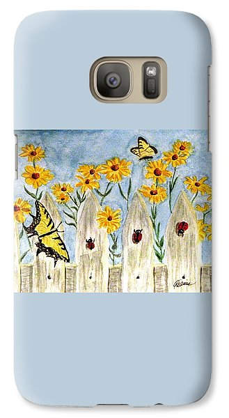 Galaxy Case featuring the painting Ladies In The Garden by Angela Davies