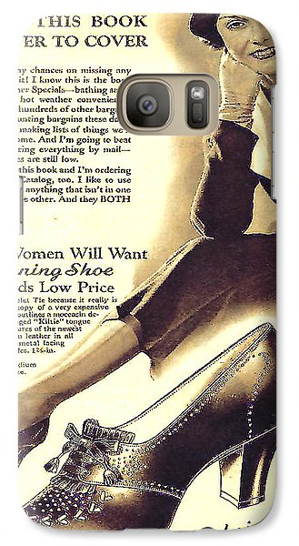 Galaxy Case featuring the photograph Ladies Shoes A Dollar Seventy Seven In 1934 by Merton Allen