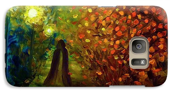 Galaxy Case featuring the painting Lady Autumn by Lilia D