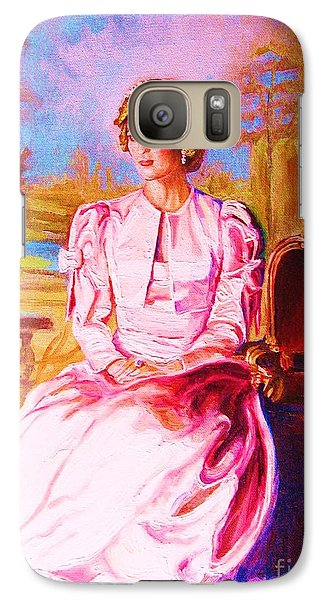 Galaxy Case featuring the painting Lady Diana Our Princess by Carole Spandau