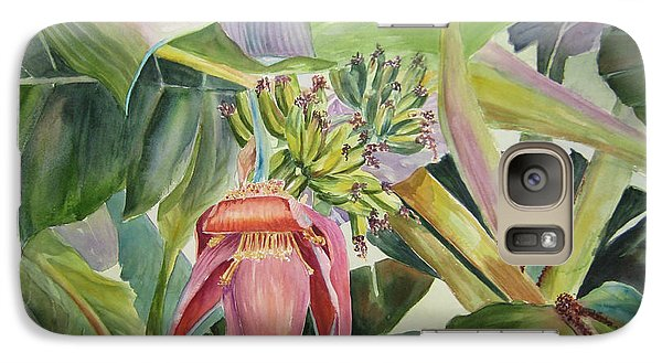 Galaxy Case featuring the painting Lady Fingers - Banana Tree by Roxanne Tobaison