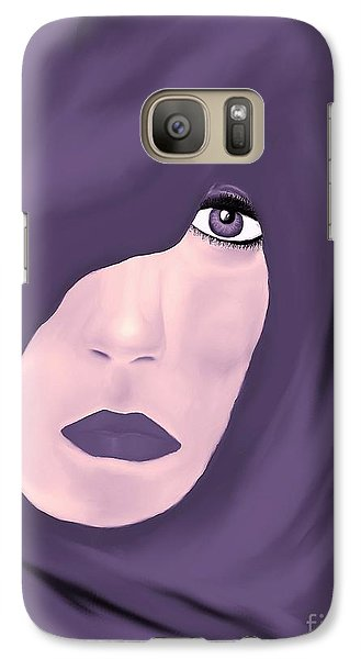 Galaxy Case featuring the painting Lady In Purple by Lori  Lovetere