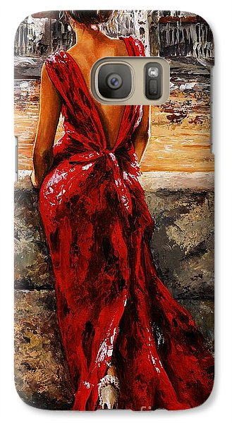 Lady In Red  34 -  I Love Budapest Galaxy S7 Case