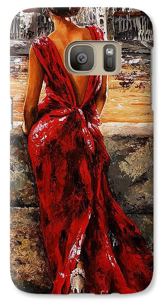 Lady In Red  34 -  I Love Budapest Galaxy S7 Case by Emerico Imre Toth