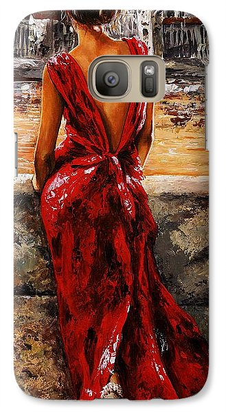 Impressionism Galaxy S7 Case - Lady In Red  34 -  I Love Budapest by Emerico Imre Toth