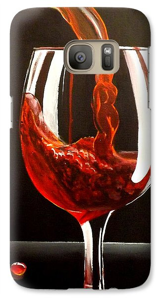 Galaxy Case featuring the painting Lady In Red by Darren Robinson