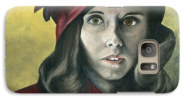 Galaxy Case featuring the painting Lady In Red by Mary Ellen Anderson