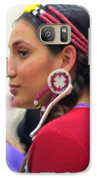 Galaxy Case featuring the digital art Lady In Red by Spyder Webb