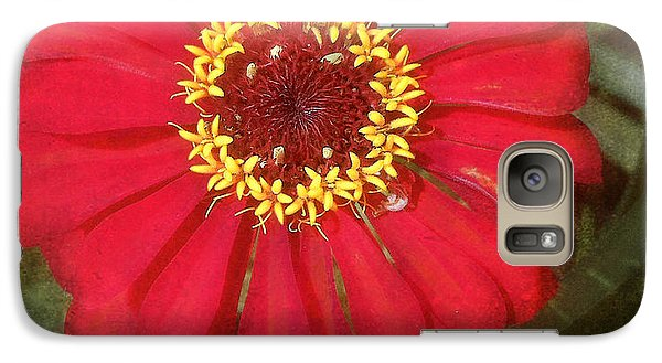 Galaxy Case featuring the photograph Lady In Red by Terri Harper