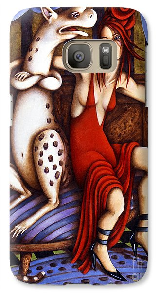 Lady In Red Galaxy S7 Case