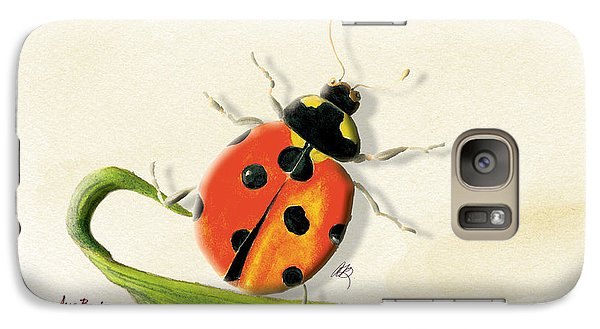 Galaxy Case featuring the painting Lady In The Garden by Anne Beverley-Stamps