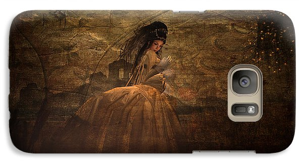 Galaxy Case featuring the digital art Lady In Waiting by Kylie Sabra