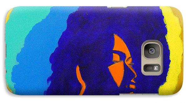 Galaxy Case featuring the painting Lady Indigo by Apanaki Temitayo M