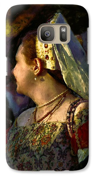 Galaxy Case featuring the photograph Lady Isabel In Conversation by John Rivera
