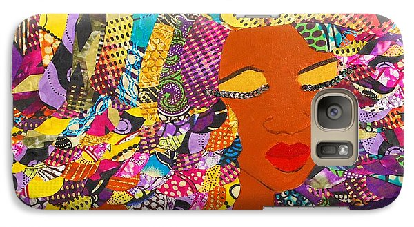 Galaxy Case featuring the tapestry - textile Lady J by Apanaki Temitayo M