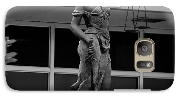 Galaxy Case featuring the photograph Lady Justice by Amber Kresge
