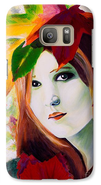 Galaxy Case featuring the painting Lady Leaf by Denise Deiloh