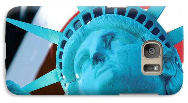 Galaxy Case featuring the photograph Lady Liberty  by Jerry Fornarotto