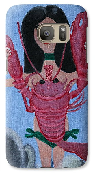 Galaxy Case featuring the painting Lady Lobster by Lorna Maza