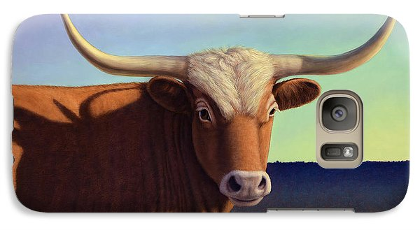 Bull Galaxy S7 Case - Lady Longhorn by James W Johnson