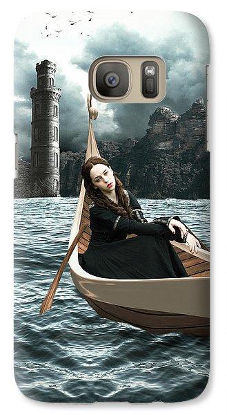 Lady Of Llyn-y-fan Fach Galaxy S7 Case by Linda Lees