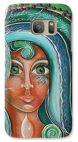 Galaxy Case featuring the painting Lady Of Lourdes Madonna by Deborha Kerr