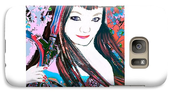 Galaxy Case featuring the digital art Lady Samurai by Diana Riukas